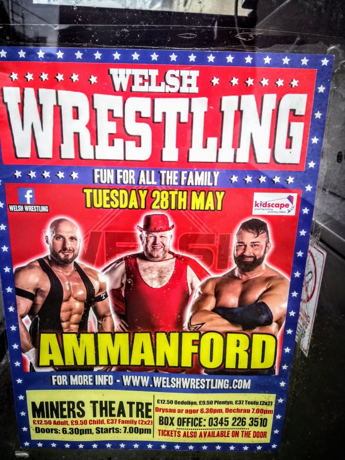 LLANDYBIE – RED LION, WELSH WRESTLING