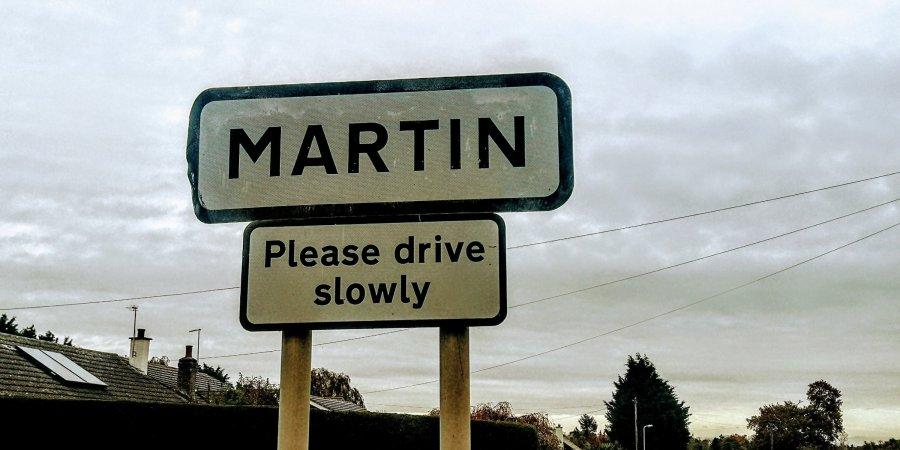 THIS MARTIN'S GONE TOMARTIN