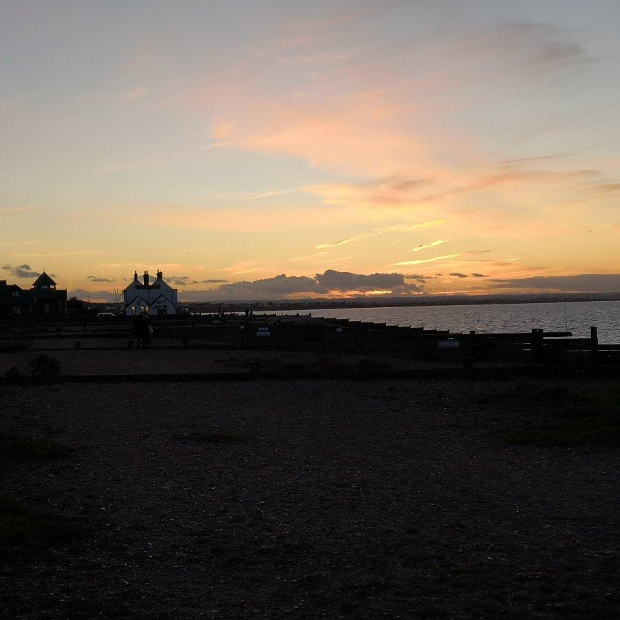 SUNSET OVER WHITSTABLE