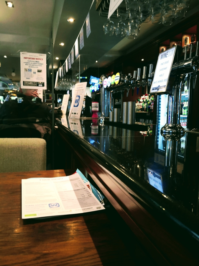 SITTING AT THE BAR AGAIN IN BLETCHLEY