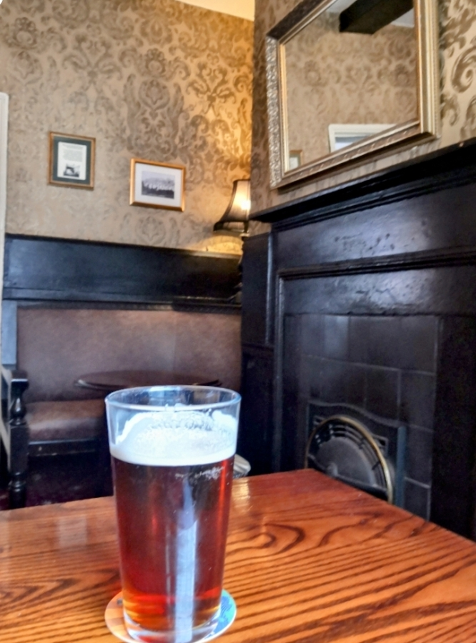 PROPER BENCH SEATING AT THE DOG &PARTRIDGE